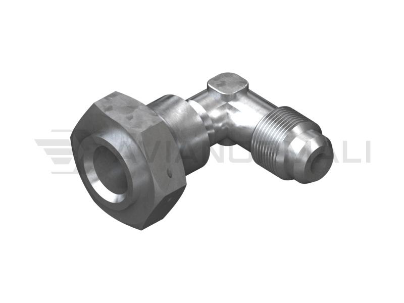 Угольник проходной с обжимной гайкой ОСТ 1 13843-81